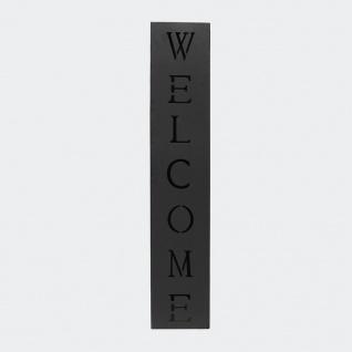 Pflanzgefäß Welcome Fackelsäule Dekosäule Schwarz