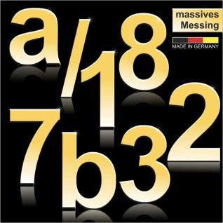 Hausnummern aus massivem Messing 170mm Höhe Arial