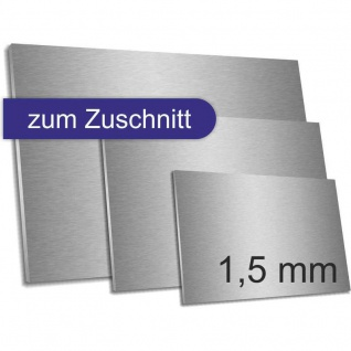 Edelstahl Zuschnitt 1, 5 mm Stärke K320 geschliffen Größe konfigurierbar