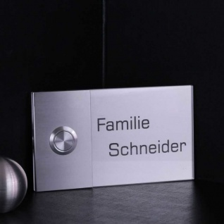 Design Türklingel Edelstahl 130x75mm mit Acrylglas