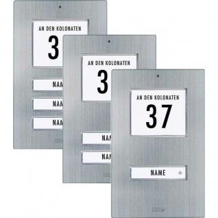 Edelstahl Aufputz Klingeltaster für 1, 2, 3-Familienhaus