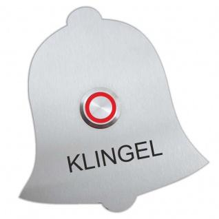 Edelstahl Klingelplatte 100x110mm Türklingelschild Glocke Klingel