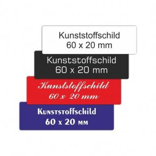 Kunststoffschild 60 x 20 mm