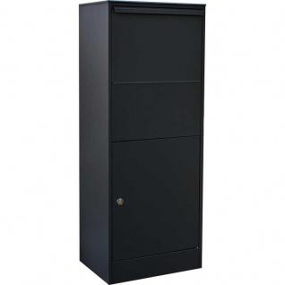 XXL Paketbriefkasten extra groß schwarz mit Ruko Sicherheits Schloss