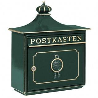 Briefkasten Mailbox Bordeaux aus robustem Alu-Guss Grün