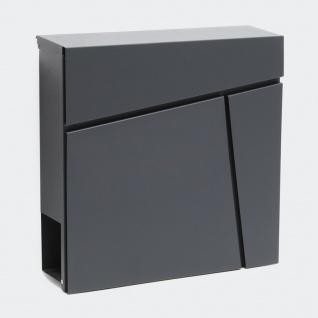 Briefkasten Design ANTHRAZIT Wandbriefkasten Postkasten Oberhausen