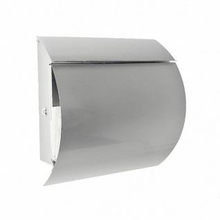 Edelstahl Designer Briefkasten Wandbriefkasten mit Zeitungsfach