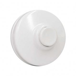 Aufputz Klingeldrücker Taster Kunststoff Weiß rund max. 24 V AC