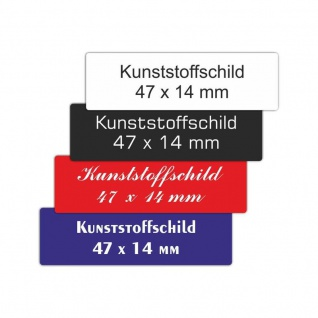 Kunststoffschild 47 x 14 mm