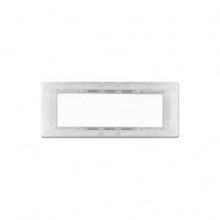 Lira Namensschild flach & kurz Gehäuse glasklar Abdeckung rauchglas