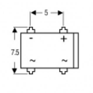 Brückengleichrichter DIL-4 80 V 1 A Einphasig - Vorschau 2
