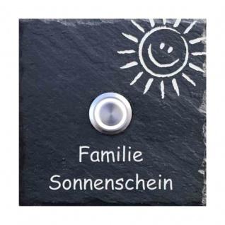 Klingelplatte Schiefer 100x100mm Smile