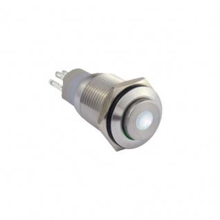 Edelstahl Klingeltaster Drucktaster 16mm mit Punktbeleuchtung weiss