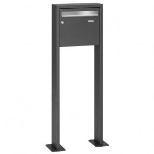 Standbriefkasten LCD 3050 pulverbeschichtet DB 703 inklusive Einwurfklappe aus gebürstetem Edelstahl
