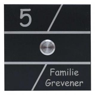 Türklingel Edelstahl 120x120mm pulverbeschichtet schwarz