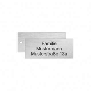 Edelstahlschild 70x25mm Typ 1