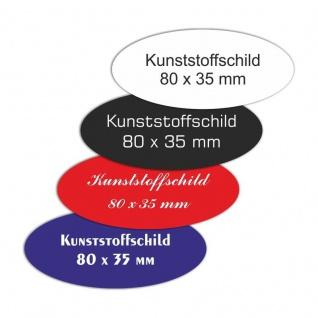 Kunststoffschild 80 x 35 mm Oval