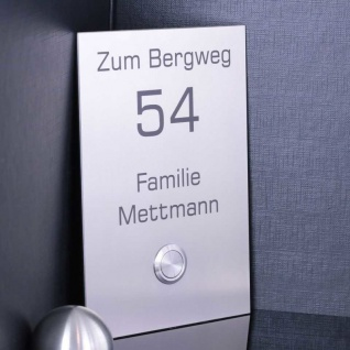 Design Türklingel 110x160mm aus Edelstahl TOPSELLER