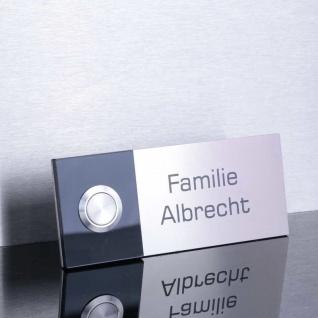 Edelstahl Türklingel 120x50mm mit Acrylglas schwarz
