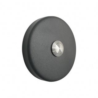 Aufputz Türklingel rund 90mm Durchmesser RAL7016 anthrazit grau