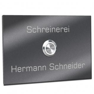 Türklingel Edelstahl mit 35mm LED Taster 160x110 mm