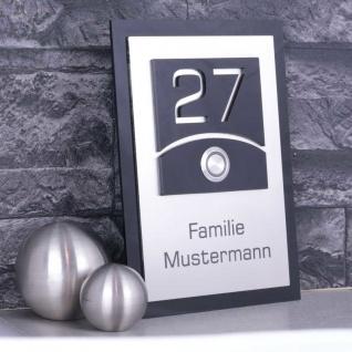 Türklingelschild 130x180mm mit Acrylglas schwarzglänzend