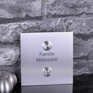 Edelstahl Türklingel 120x120mm mit Lichttaster