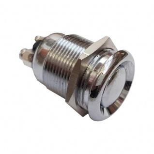 Klingeltaster Drucktaster gewölbt 19mm Durchmesser mit 2 Schraubkontakten