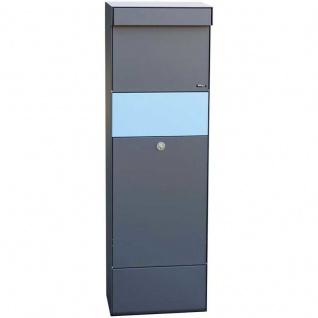 Paketbriefkasten anthrazit grau mit Ruko Sicherheits inklusive Farb-/Namensplatten