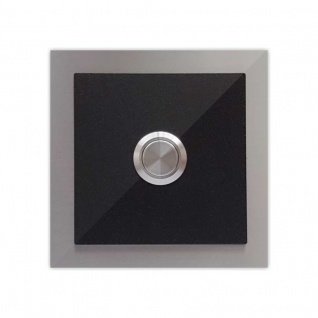 Türklingel schwarz 100x100mm pulverbeschichtet schwarz RAL 9005 Feinstruktur