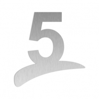 Edelstahl Hausnummernschild Hausnummer 1-3 Zeichen auf Bogen