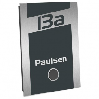 Ultraflache Aufputz Funkklingel anthrazit RAL 7016 110x160mm RW 400m 52 Melodien Pauli