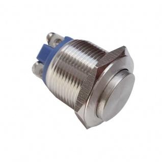 Klingeltaster Drucktaster 19mm Durchmesser mit 2 Schraubkontakten