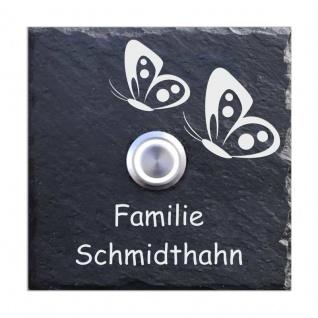 Türklingel Schiefer 100x100mm 2 Schmetterlinge