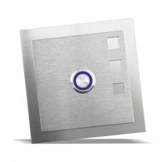 Edelstahl Türklingel 100x100mm mit Designelement Design 2
