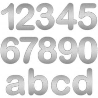 Zalafino® Edelstahl Design Hausnummer fein geschliffen 17 cm Höhe (ROUND)