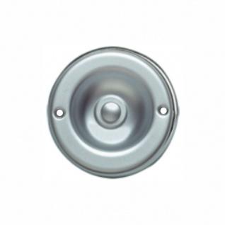 Edelstahl Türklingel 70mm Durchmesser matt verchromt rund Unterputz