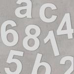 Hausnummern aus Edelstahl 170mm Höhe RAL 9006 Silber metallic feinstruktur