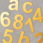 Hausnummern aus Edelstahl 170mm Höhe Gold Effekt metallic