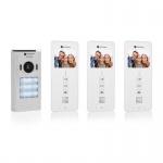 3 Familien VIDEO Gegensprechanlage mit 3, 5 Zoll (8, 9 cm) Display