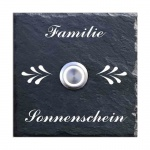 Türklingel Schiefer 100x100 mm Ornamente