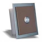 Aufputz Türklingel bronce 100x100mm Pulverbeschichtet bronce Effekt metallic