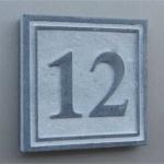 Hausnummer Naturstein 150x150mm Square4