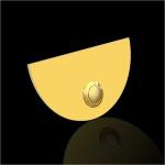 Türklingel Messing oval 100x60mm 4mm Stärke ohne Beschriftung