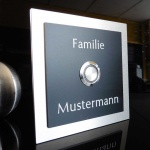 Türklingel Aluminium 100x100mm Design Klingelschild