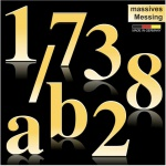 Hausnummern aus massivem Messing 170 mm Höhe (Times Roman)