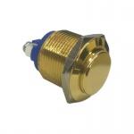 Klingeltaster Drucktaster Messingtaster in Gold 19mm Durchmesser Betätiger erhaben