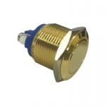 Klingeltaster Drucktaster Messingtaster in Gold 19mm Durchmesser Betätiger flach