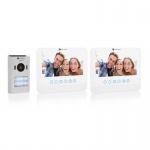 2 Familien VIDEO Gegensprechanlage mit 7 Zoll (17, 8 cm) Display