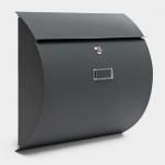 Briefkasten ANTHRAZIT halbrund Wandbriefkasten Postkasten Birstein